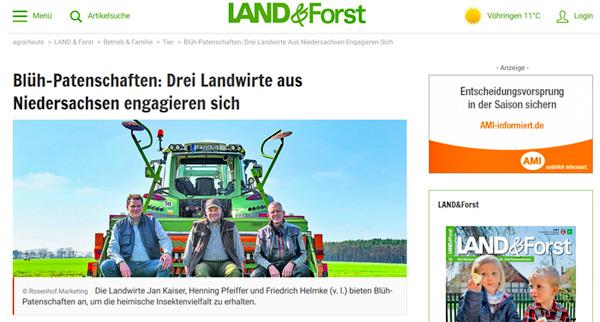 Lass es blühen auf der Website von Land und Forst