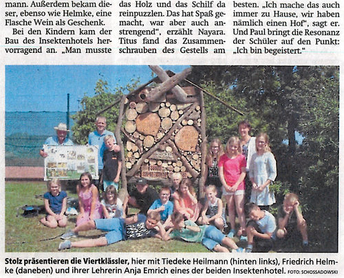Lass es blühen - Pressebericht Allgemeine Zeitung Uelzen vom 25.6.2019