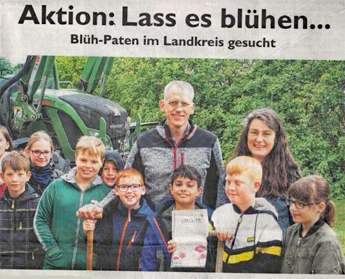 Lass es blühen - GA Uelzen - Grundschüler werden Blüh-Paten
