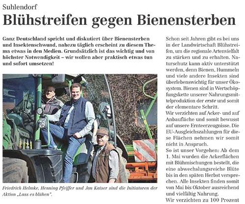 Lass es blühen - Blühpatenschaften im Wipperau-Kurier