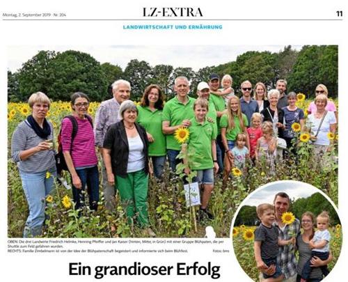 Lass es blühen - Presse Landeszeitung Lüneburg August 2019